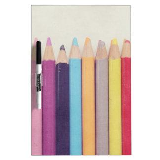 Colored Pencils Dry-Erase Board