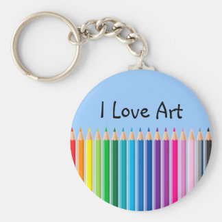 Colored Pencils Keychain
