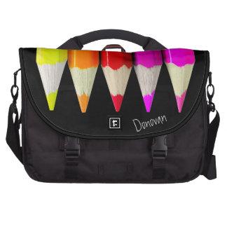 Colored Pencils Laptop Bag Template