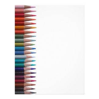 Colored Pencils Letterhead