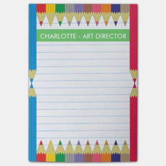 Colored Pencils Line Paper Post-it® Notes