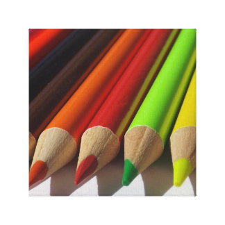 Colored Pencils Macro Canvas Print