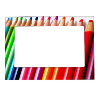 colored pencils magnetic photo frame