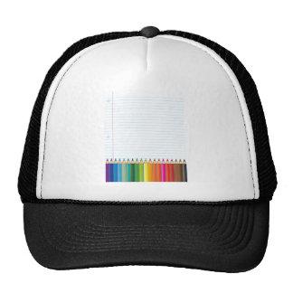 Colored Pencils Mesh Hat