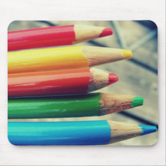 colored pencils mouse pads