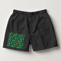 Colored Pencils on Green Grid Boxers
