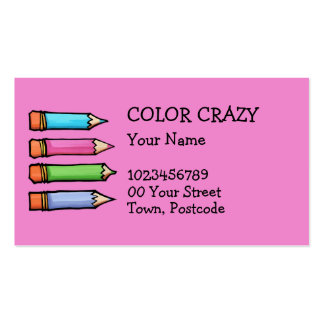 Colored Pencils pink Business Card