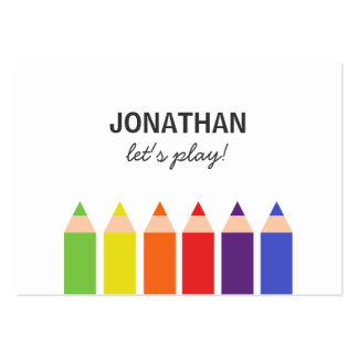 Colored Pencils Playdate Card
