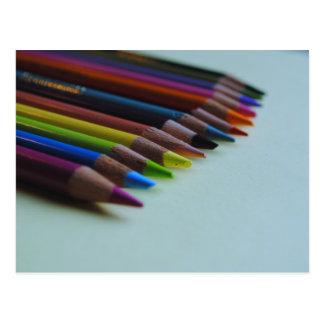Colored Pencil's Post Card