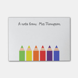 Colored Pencils Post-it Notes