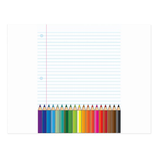 Colored Pencils Postcard