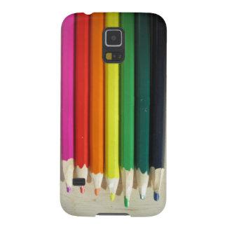 Colored pencils rainbow galaxy s5 case