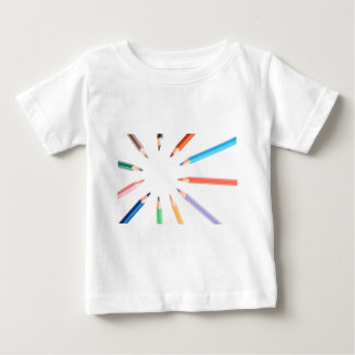 Colored pencils representing the sun rays baby T-Shirt