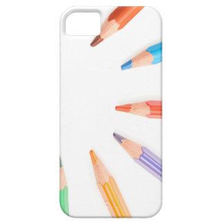Colored pencils representing the sun rays iPhone SE/5/5s case