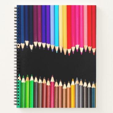 Beach Themed Colored Pencils School Teacher Art Artist Notebook