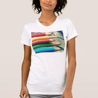 colored pencils tee shirt