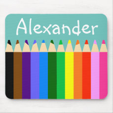 Colored Pencils Too Personalize Mouse Pad