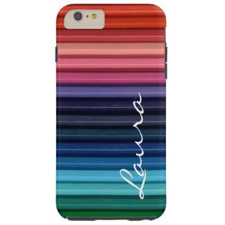 Colored Pencils Tough iPhone 6 Plus Case