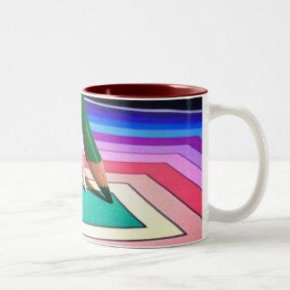 Colored Pencils Two-Tone Coffee Mug