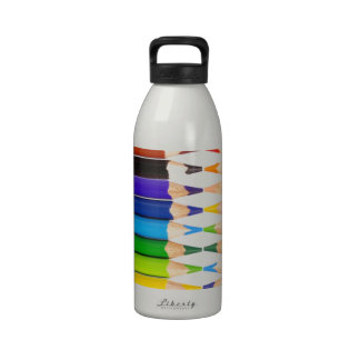 colored pencils drinking bottle