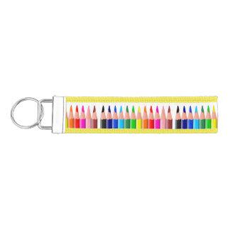 Colored Pencils Wrist Key Chain