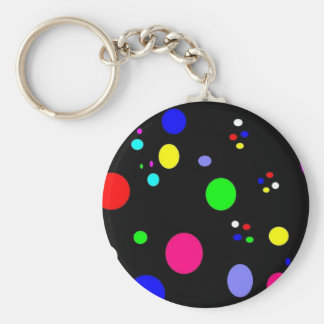 Colored Planets Keychain