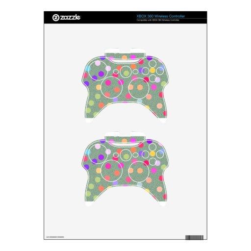 Colored Poka Dot Xbox 360 Controller Decal