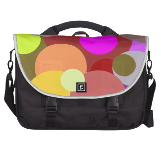Colored Polka Dots Abstract Commuter Bag
