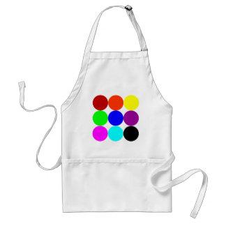 Colored Polka Dots Adult Apron