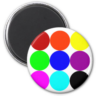Colored Polka Dots Magnet