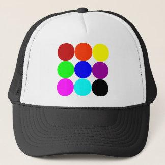 Colored Polka Dots Trucker Hat