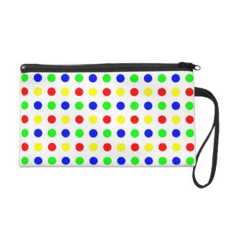 Colored Polka Dots Wrist Bag