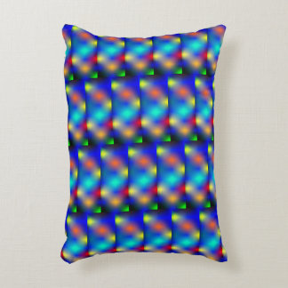 """Colored print, """"square shaped scale"""". accent pillow"""