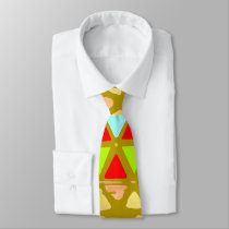 Colored Pyramid Patterned Tie