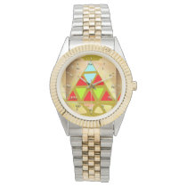 Colored Pyramid Wristwatch