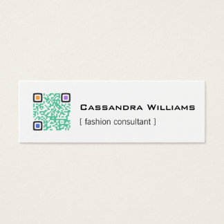 Colored QR CODE Mini Business Cards