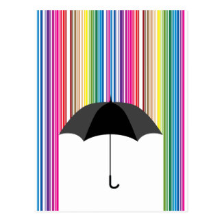 Colored Rain Postcard