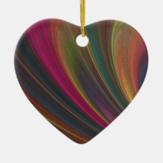 Colored Rainbow Ceramic Ornament