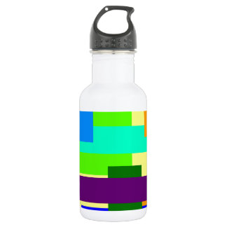 Colored Rectangles Stainless Steel Water Bottle