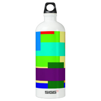Colored Rectangles Water Bottle