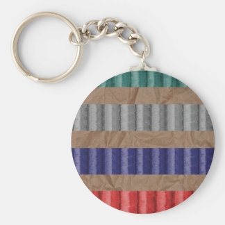 Colored Ribbed Cardboard Brown Paper Keychain