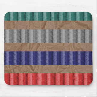 Colored Ribbed Cardboard Brown Paper Mouse Pad