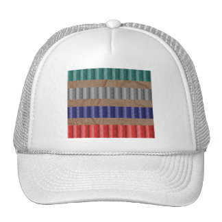 Colored Ribbed Cardboard Brown Paper Trucker Hat