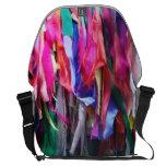 Colored Ribbon Motif Messenger Bag