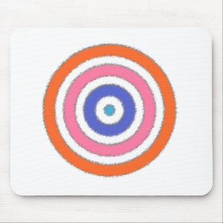 Colored Rings Mouse Pad