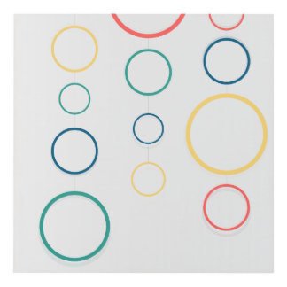 colored rings panel wall art