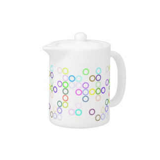 Colored Rings Teapot