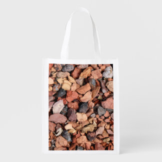 COLORED ROCKS REUSABLE GROCERY BAGS