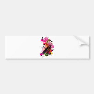 Colored_Rose Bumper Sticker
