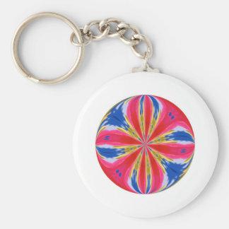 Colored round basic round button keychain